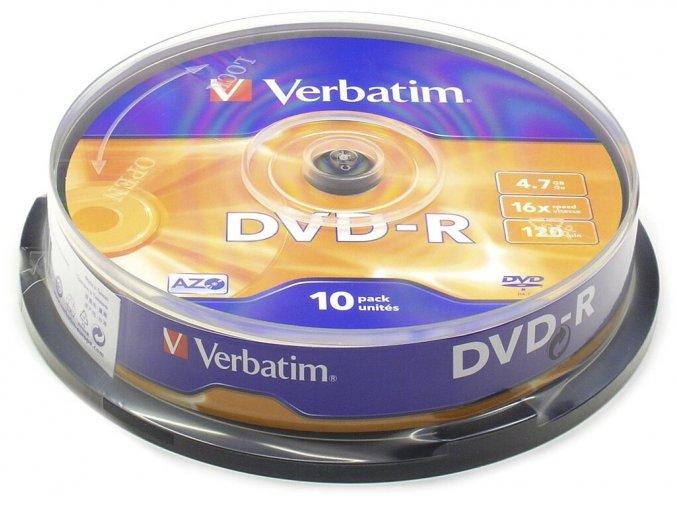 Verbatim DVD-R Matt Silver 10 cake