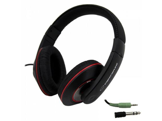 Sluchátka přes uši s 5m kabelem Esperanza