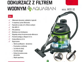 Vysavač s vodní filtrací MPM AQUARIAN