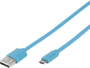 Kabel USB/micro USB 1m - modrý