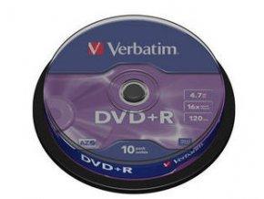 Verbatim DVD+R Matt Silver 10cake