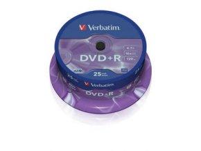 Verbatim DVD+R Matt Silver 25cake