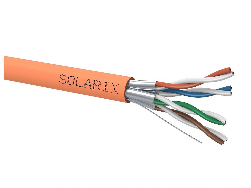 Instalační kabel Solarix CAT6A U/FTP LSOH B2-ca-s1,d1,a1 500m/cívka