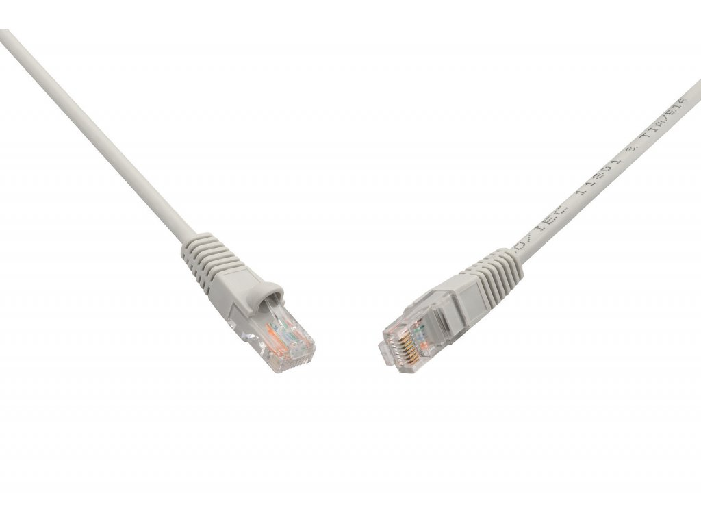 Patch kabel UTP RJ45-RJ45 cat.5e, 3m, šedý