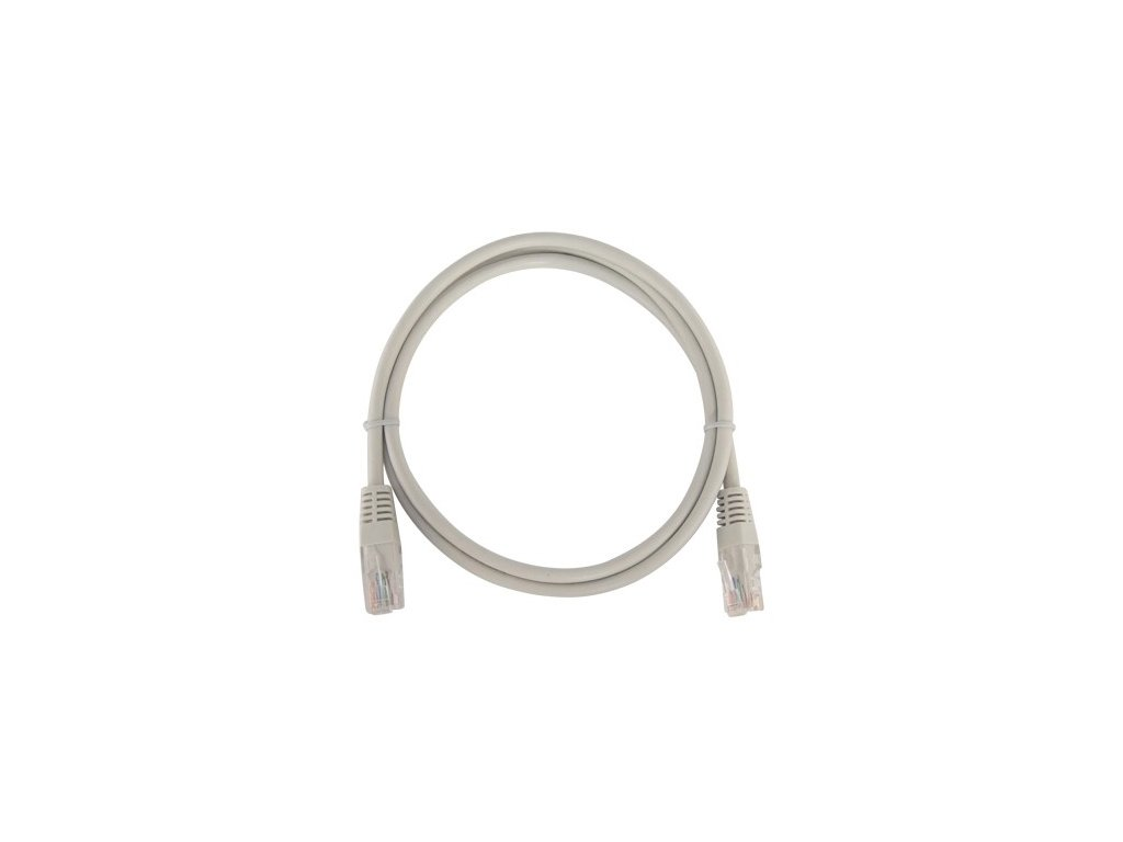 patch kabel utp rj45 rj45 cat5e 05m sedy
