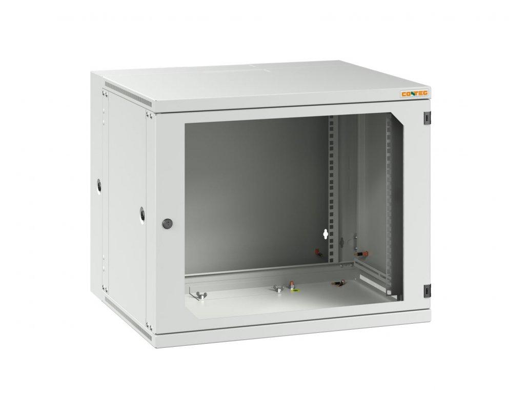 "CONTEG RUD-12-60/50-B nástěnný rozvaděč , 19"", v. 12U (624mm), h. 500mm, š. 600mm, dělený, PREMIUM, šedý"