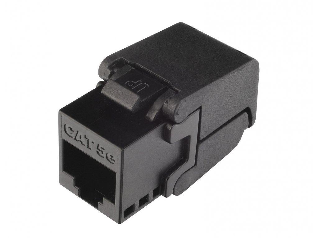 Samořezný keystone Solarix CAT5E UTP RJ45 černý