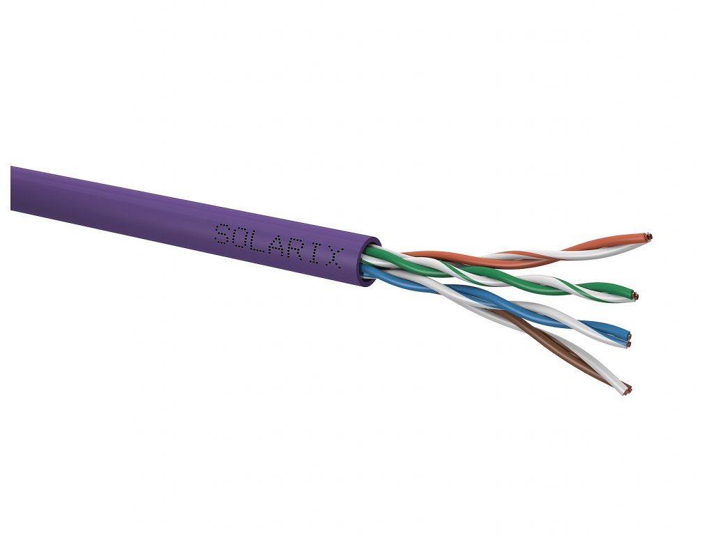 Instalační kabel Solarix CAT5E U/UTP LSOH Dca-s1,d2,a1 305m/box