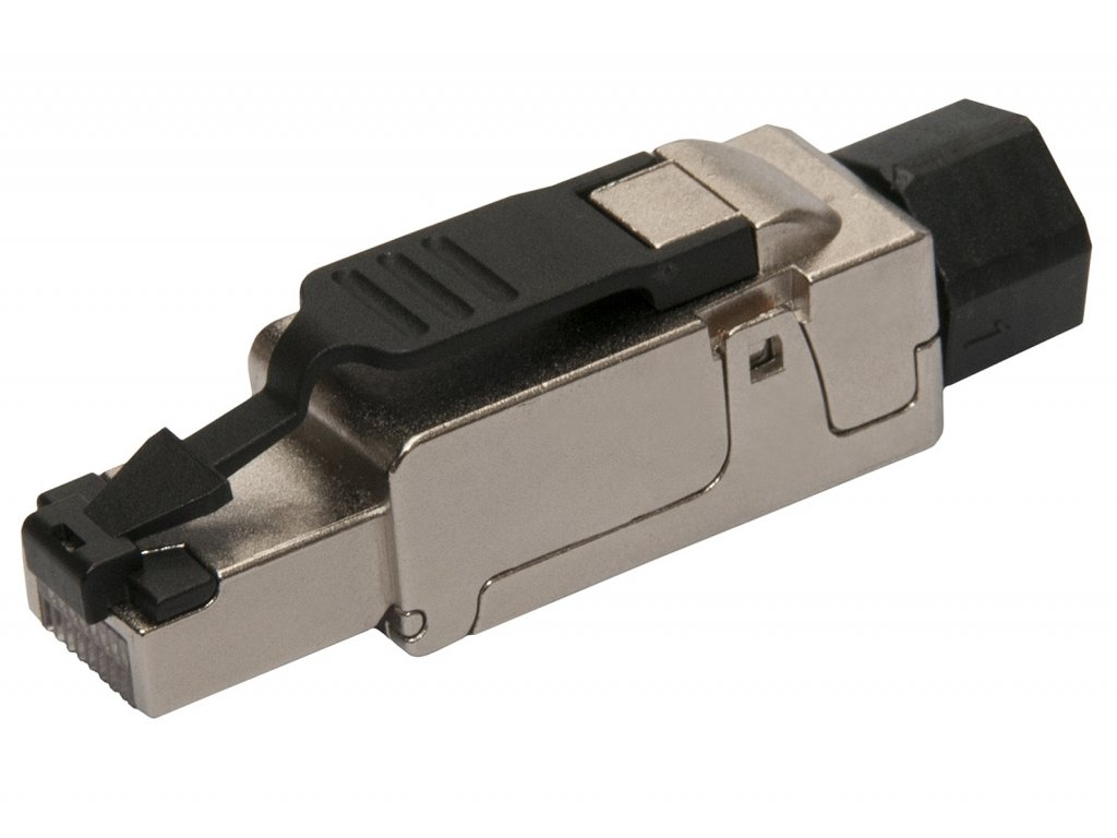 Konektor průmyslový univerzální RJ45 CAT6 STP samořezný