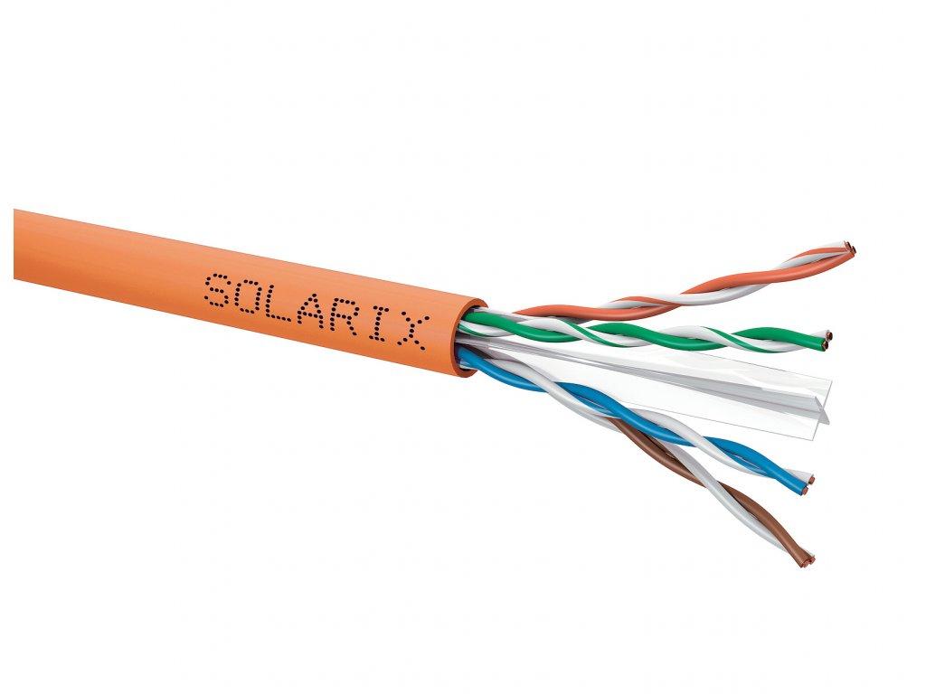 Instalační kabel Solarix CAT6 U/UTP LSOHFR B2-ca-s1,d1,a1 500m