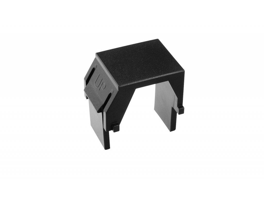 Keystone záslepka do modulárních patch panelů nebo zásuvek černá