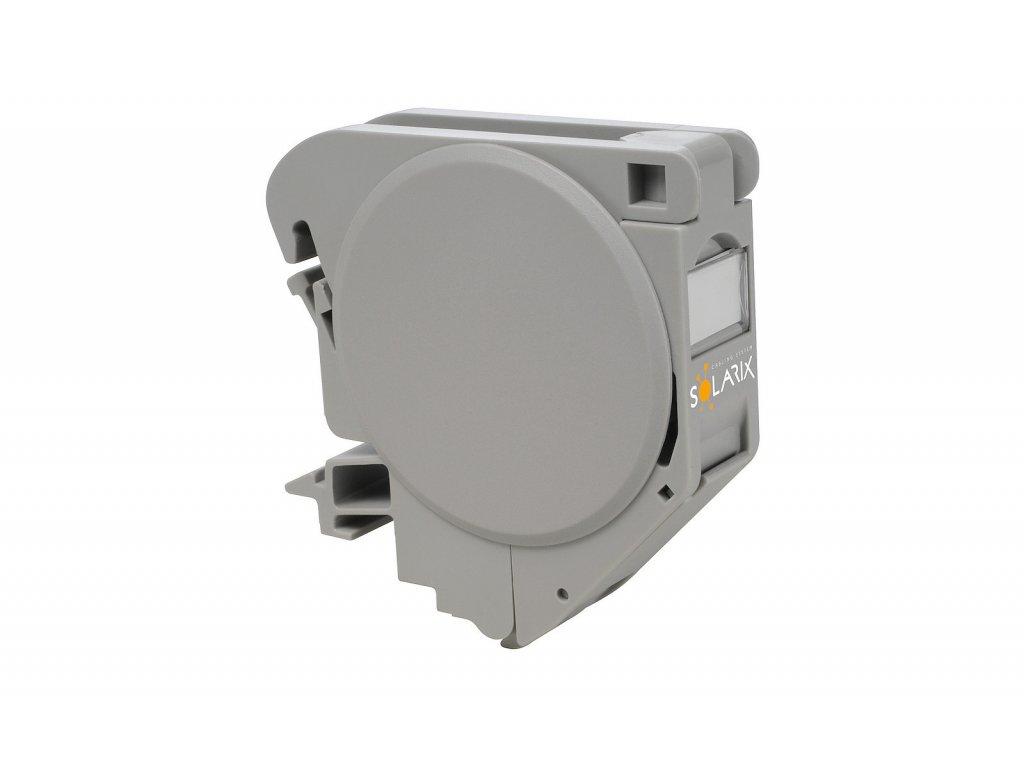 Průmyslový modul na DIN lištu pro jeden keystone šedý