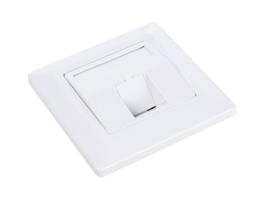 Zásuvka modulární Solarix pro 1 keystone pod omítku bílá