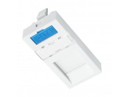 Modul French style Solarix 22,5 x 45mm pro 1 keystone přímý bílý