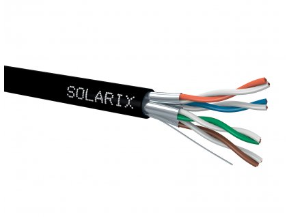 Instalační kabel Solarix CAT6A U/FTP PE  500m/cívka