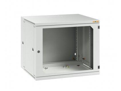 "CONTEG RUD-15-60/50-B nástěnný rozvaděč , 19"", v. 15U (758mm) , h. 500mm, š. 600mm, dělený, PREMIUM, šedý"