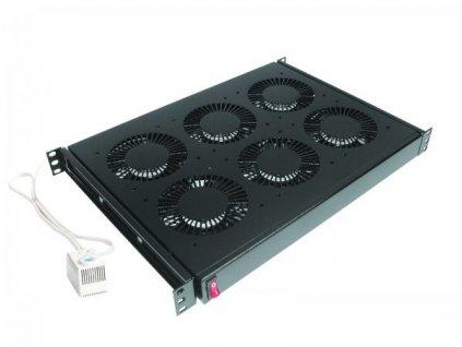 dp ven 06 h ventilacni jednotka 6x ventilator 230v s termostatem 19 cerna