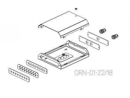 CONTEG ORN-M-8SC-B čelo, 8 pozic SC, ORN-01-xx/xx, RAL7035