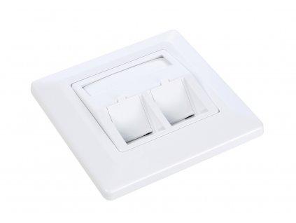 Zásuvka modulární Solarix pro 2 keystony pod omítku bílá
