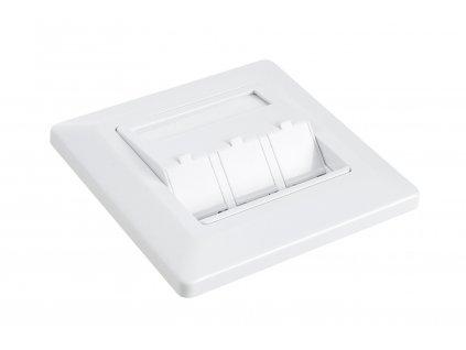 Zásuvka modulární Solarix pro 3 keystony pod omítku bílá