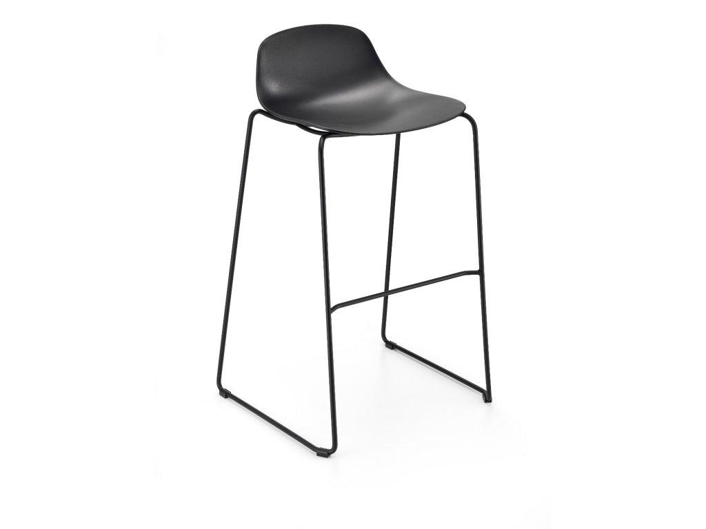 Moderní barová židle Pure loop mini