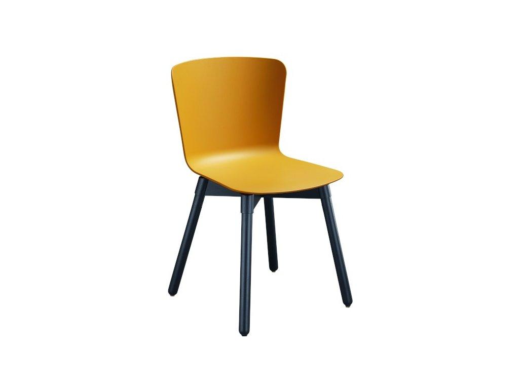 Moderní židle Calla na dřevěné podnoži