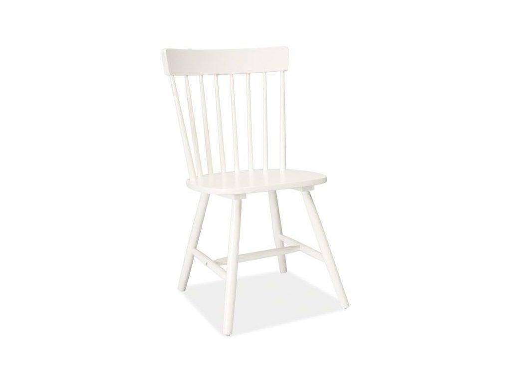 Dřevěná židle Alero v bílém provedení