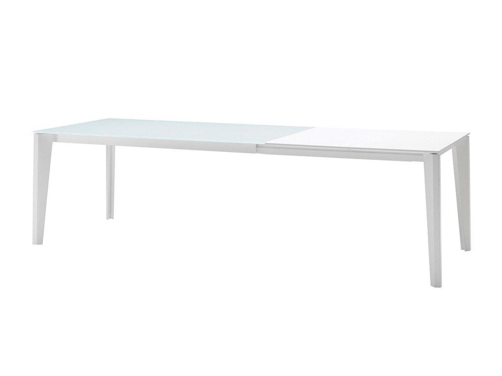 Rozkládací jídelní stůl se sklokeramickou deskou Diamante 120/170