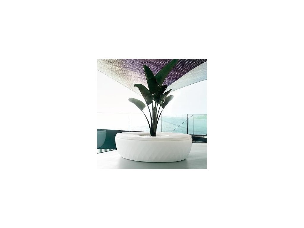 Moderní lavička s květináčem Vases Island