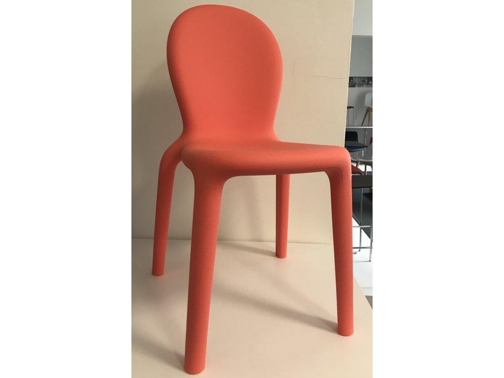 Výprodej! Moderní židle Chloé 2 kusy lososová