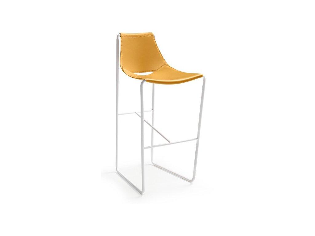 Luxusní kožená barová židle Apelle