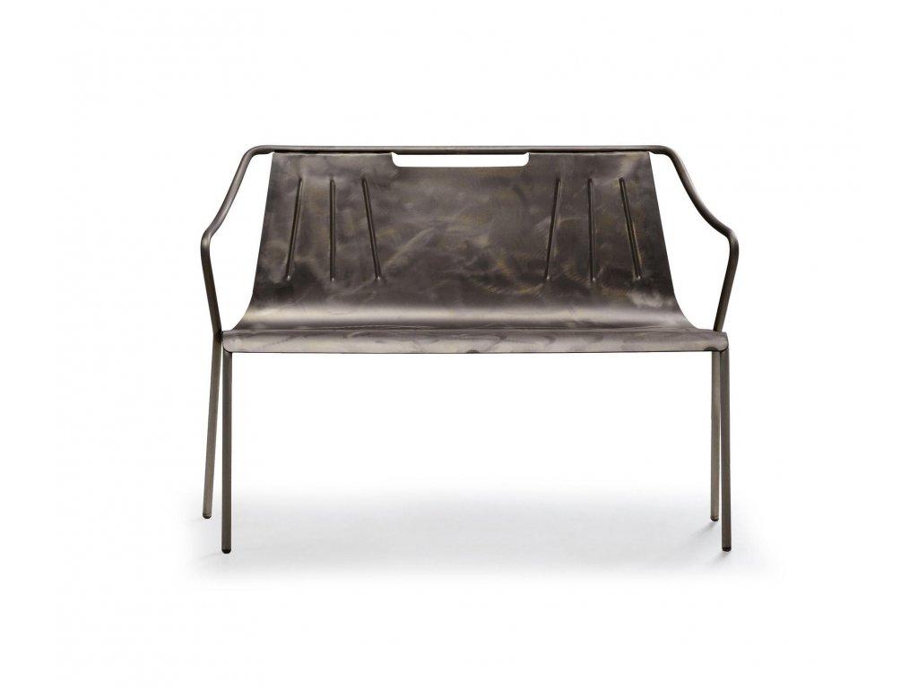 Moderní kovová lavička Ola