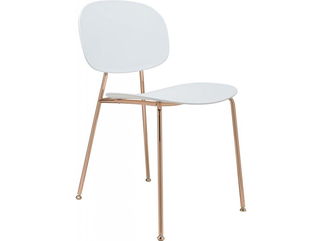Retro moderní židle Tondina Pop v měděné konstrukci
