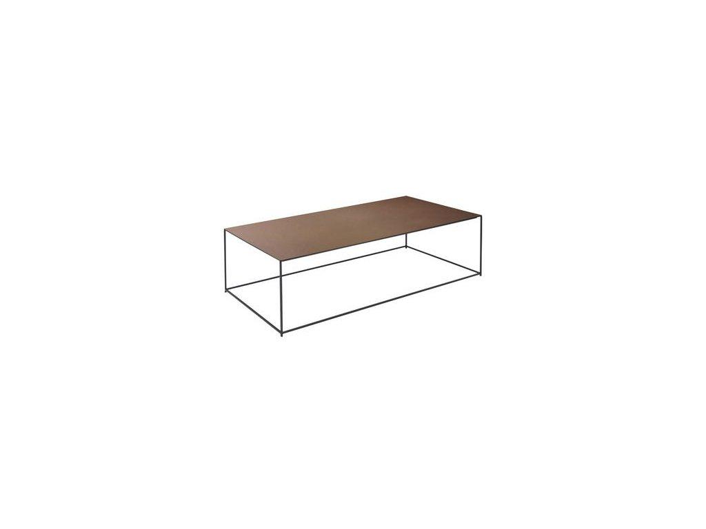 Minimalistický konferenční stolek Slim Irony 124x41 cm