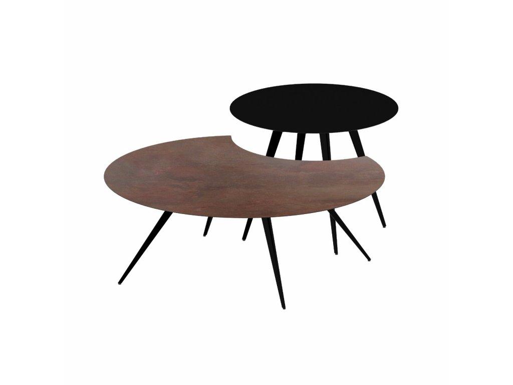 Luxusní duo konferenční stolek Lara & Dara
