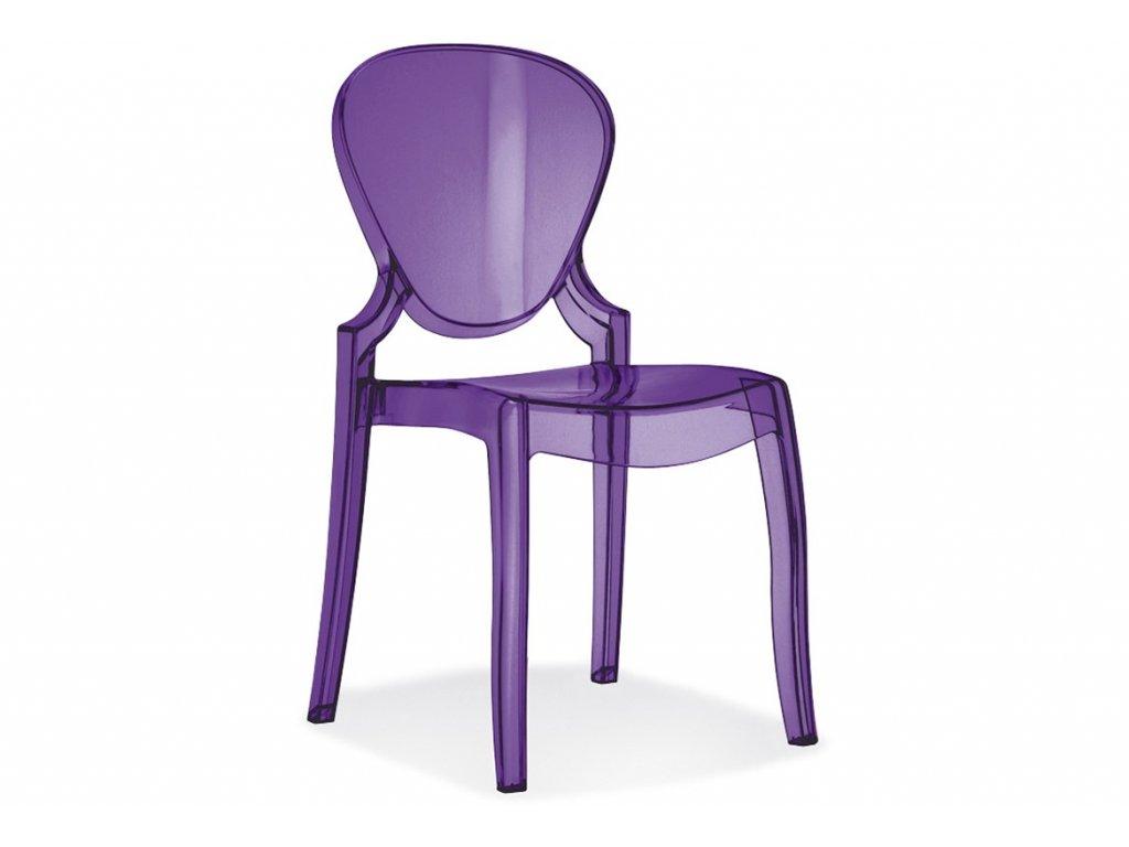 Luxusní jídelní židle Queen 650 fialová