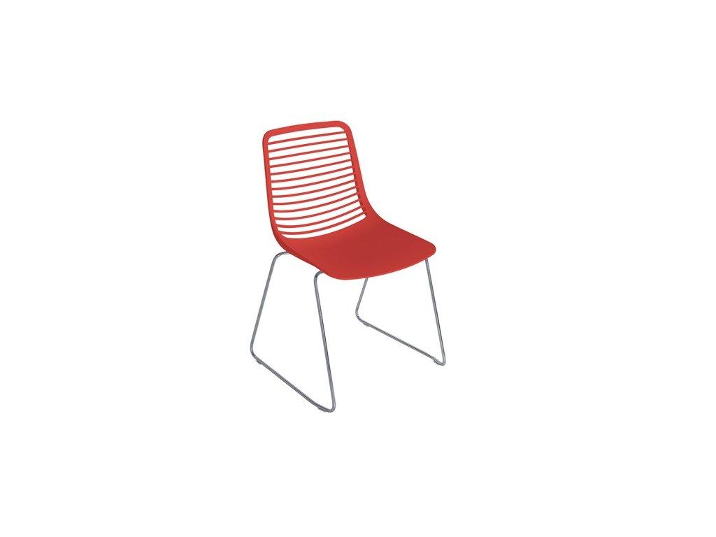 Moderní židle Mini na sáňkové podnoži