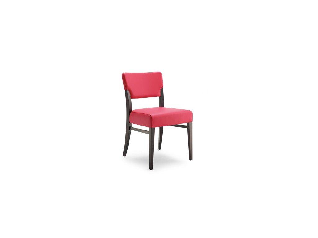 Čalouněná židle na dřevěné podnoži Deva S