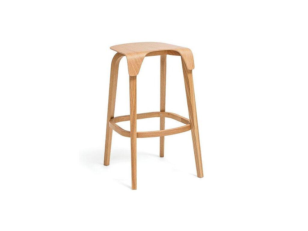 Moderní dřevěná barová židle Leaf. Na objednávku. Cena na dotaz.