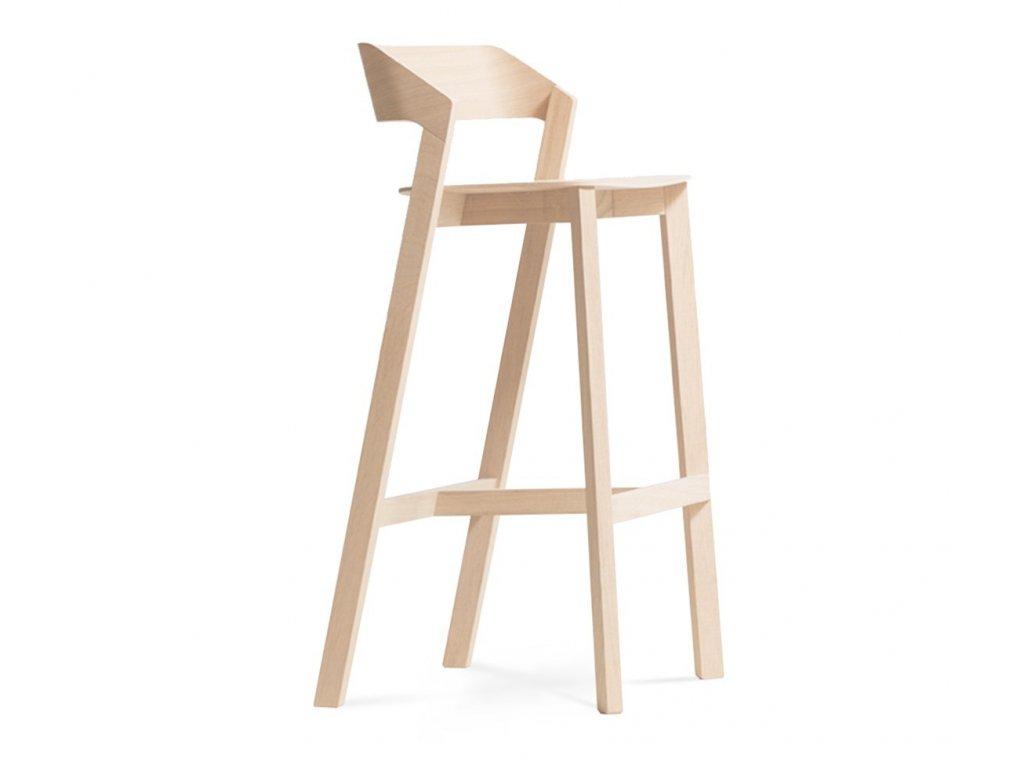 Dřevěná barová židle Merano. Na objednávku. Cena na dotaz.