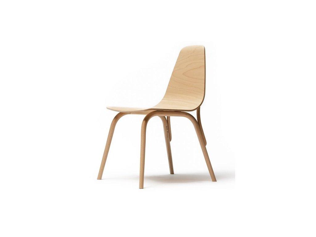 Moderní dřevěná židle Tram. Na objednávku. Cena na dotaz.