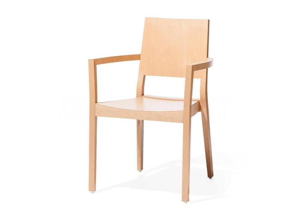 Moderní dřevěné křeslo Lyon 516. Na objednávku. Cena na dotaz.