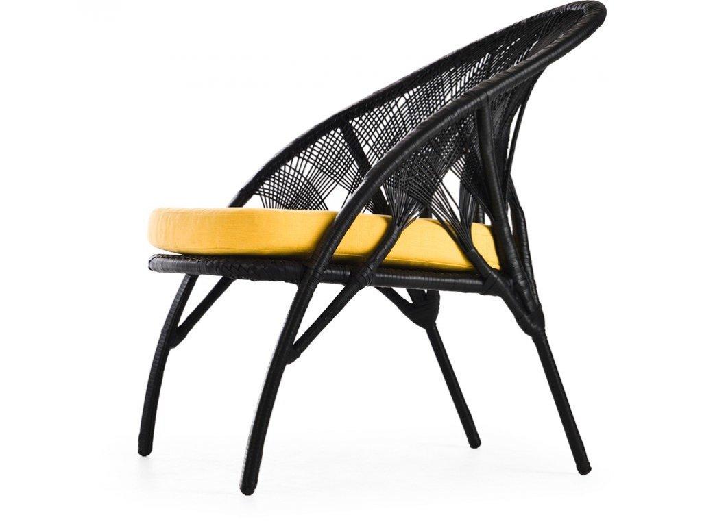 Designové pletené lounge křeslo Hagia