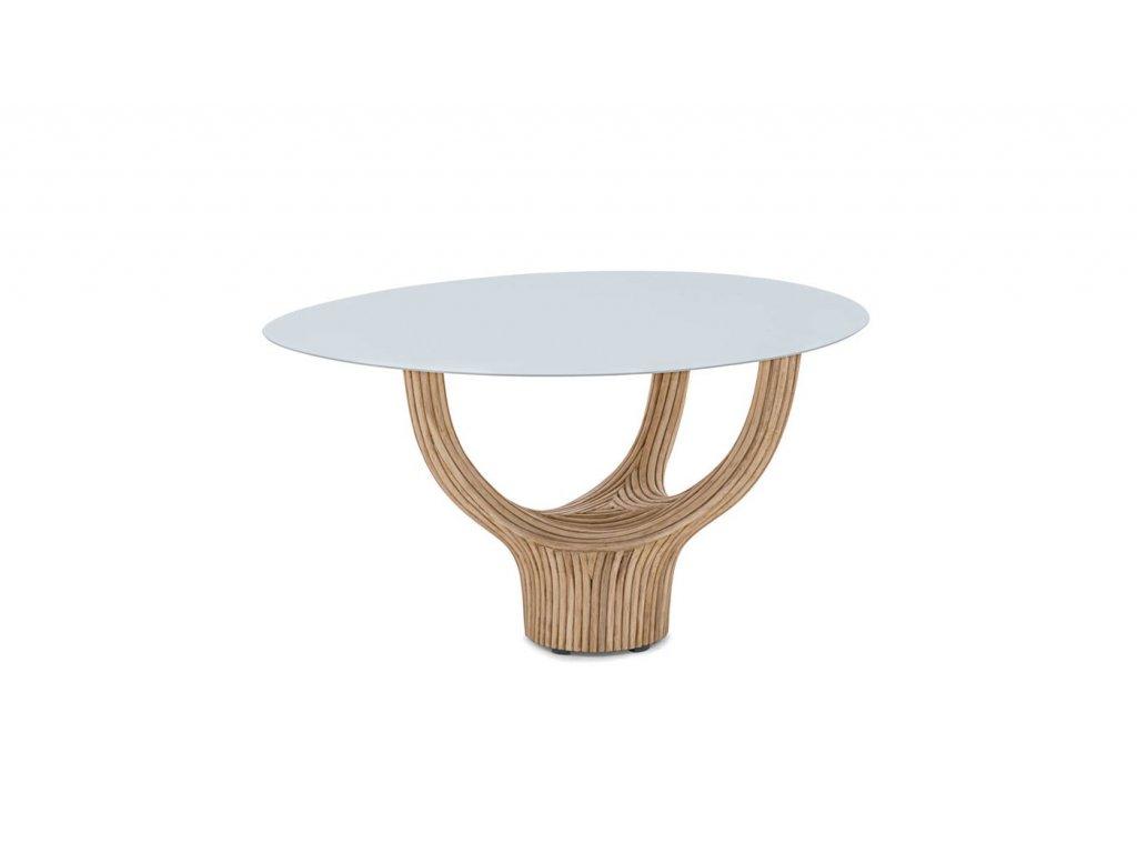 Solitérní originální konferenční stolek Acacia