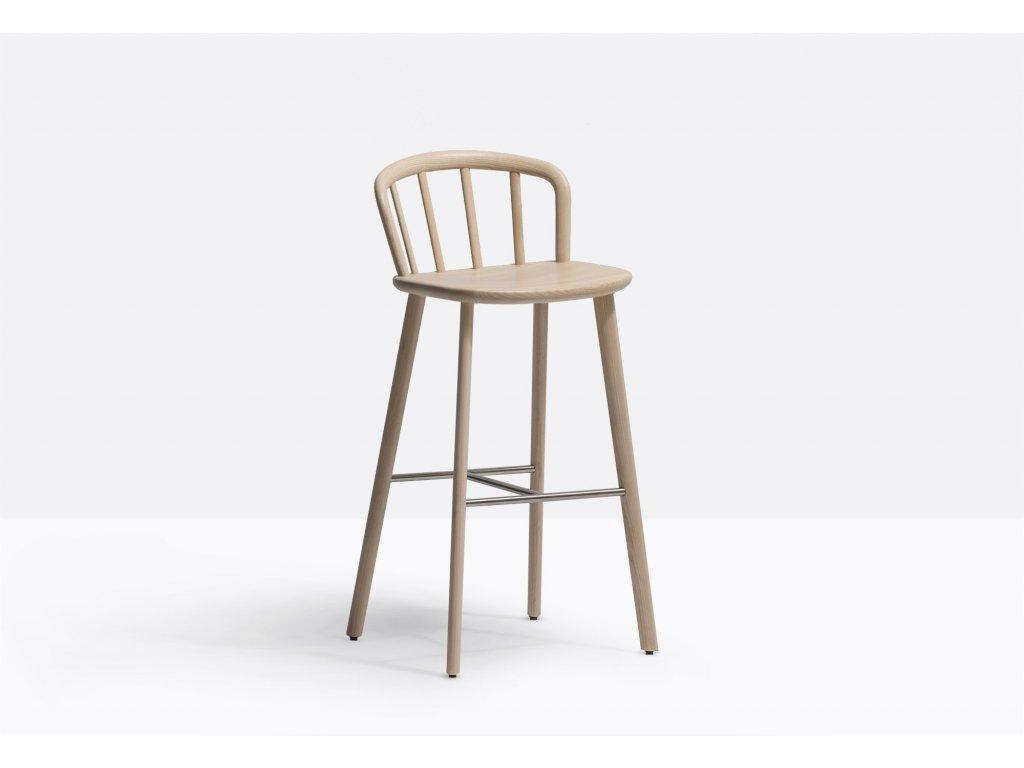 Dřevěná barová židle Nym 2838