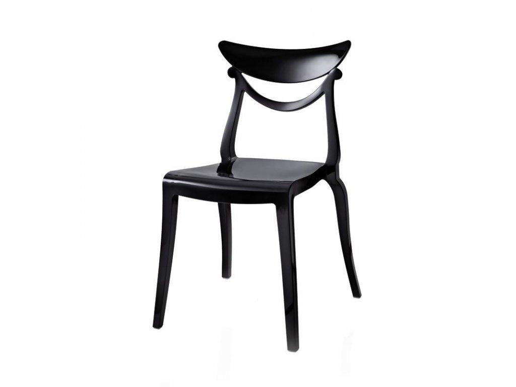 Moderní jídelní židle Marlene 2 kusy černá