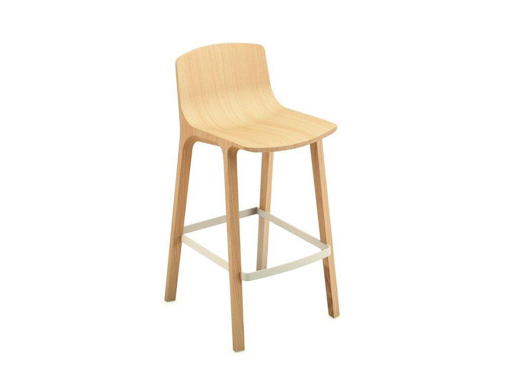 Moderní dřevěná barová židle Seame