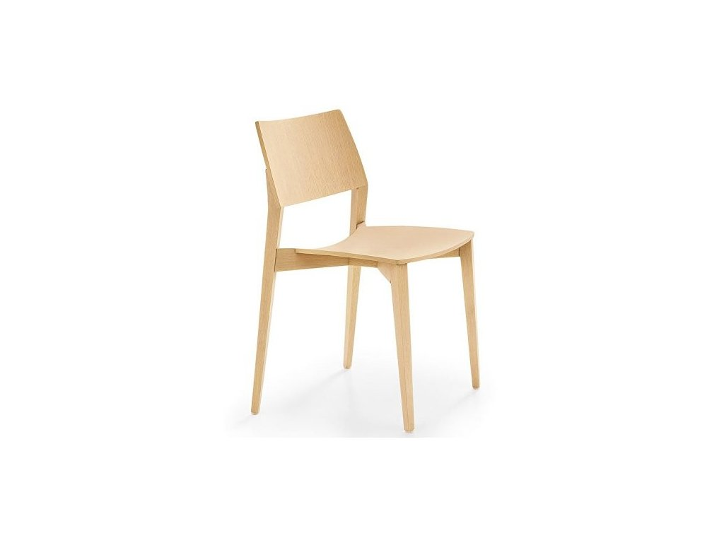 Moderní dřevěná židle Ligno