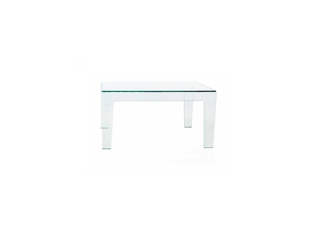 Moderní skleněný stůl Frog 130x130