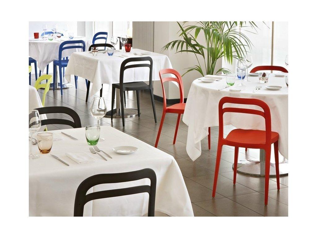 Moderní židle Julie 4 kusy  fialová
